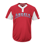 Custom Angels Two-Button Jersey -  Angels-MAI383