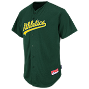 Athletics Official MLB Full Button Jersey - Adult