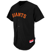Giants Official MLB Full Button Youth Jersey - MA654Y
