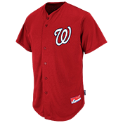Nationals Full Button Baseball Jersey - Adult