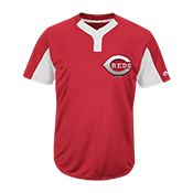 Youth Reds Two-Button Jersey - Reds-MAIY83