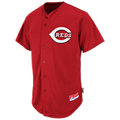 Reds Official MLB Full Button Youth Jersey - MA654Y