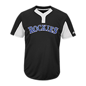 Custom Rockies Two-Button Jersey - Rockies-MAI383