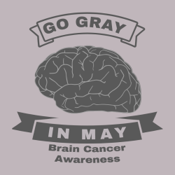 Go Gray In May Brain Cancer Awareness - Cancer Awareness T-shirt Design T-Shirt Design - 1130