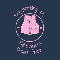Supporting The Fight Against Breast Cancer. - Cancer Awareness T-shirt Design T-Shirt Design - 1052