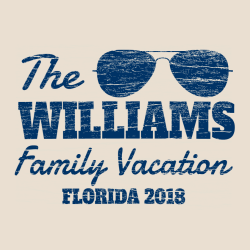 Family Vacation Florida T-Shirt Design - 2262