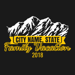 Family Vacation T-Shirt Design - 2258