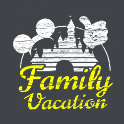 Family Vacation T-Shirt Design - 2268