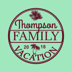 Family Vacation T-Shirt Design - 2270