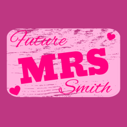 future mrs smith   wedding t shirt design