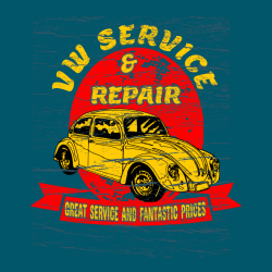 Great Service And Fantastic Prices Vw Service & Repair - Mechanic T-shirt Design T-Shirt Design