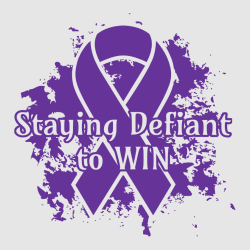 Staying Defiant To Win - Cancer Awareness T-shirt Design T-Shirt Design - 1237
