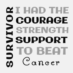 Survivor I Had The Courage Strength Support To Beat Cancer - Cancer Awareness T-shirt Design T-Shirt
