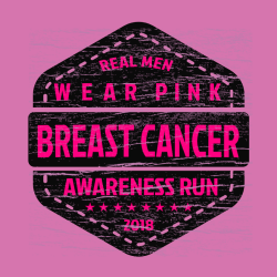 wear pink breast cancer real men awareness run    cancer awareness t shirt design