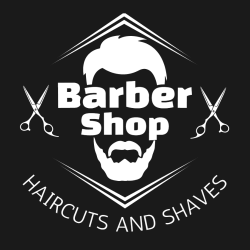 Barber Shop Haircuts And Shaves - Barbershops & Salons T-shirt Design T-Shirt Design - 3403