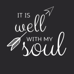 It Is Well With My Soul - Christian T-shirt Design T-Shirt Design - 3842
