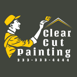 Clear Cut Painting 333-333-4444 - Painting T-shirt Design T-Shirt Design - 3329