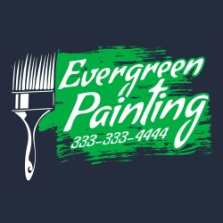 Evergreen Painting 333-333-4444 - Painting T-shirt Design T-Shirt Design - 3335