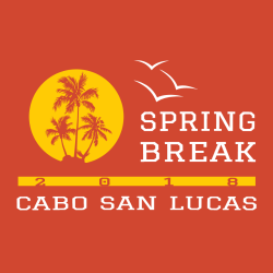 Spring Break Cabo T-Shirt Design - 3628