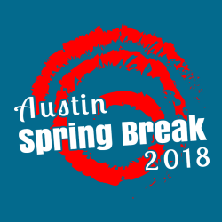 Spring Break Austin T-Shirt Design - 3625