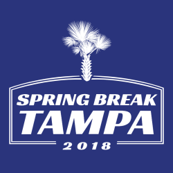 Spring Break Tampa T-Shirt Design - 3631