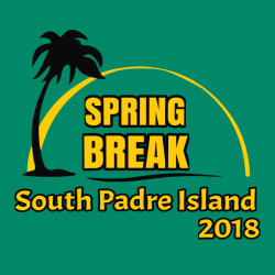 Spring Break Padre Island T-Shirt Design - 3634