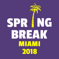Spring Break Miami T-Shirt Design - 3640