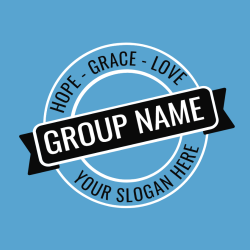 Hope - Grace - Love Group Name Your Slogan Here - Church T-shirt Design T-Shirt Design - 3789