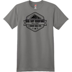 Big Sky Roofing Since 1992 - Roofing T-shirt Design T-Shirt Design - 1098