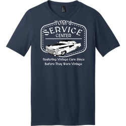 Center Service Restoring Vintage Cars Since Before They Were Vintage Tom's - Mechanic T-shirt Design