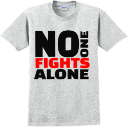 No One Fights Alone - Cancer Awareness T-shirt Design T-Shirt Design - 1204