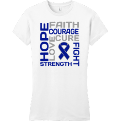 Hope Faith Courage Love Cure Fight Strength - Cancer Awareness T-shirt Design T-Shirt Design - 1165