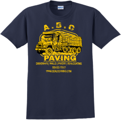 Paving Driveways | Walls | Pavers | Sealcoating  - Construction T-shirt Design T-Shirt Design - 1031