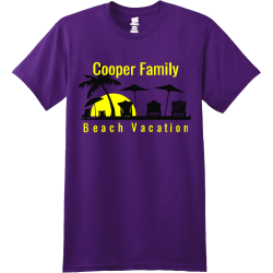 Family Beach Vacation T-Shirt Design - 80