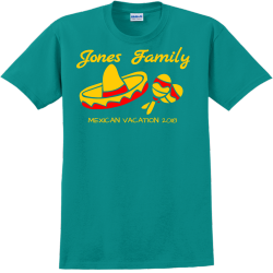 Family Mexican Vacation T-Shirt Design - 2264