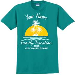 Family Vacation T-Shirt Design - 2267