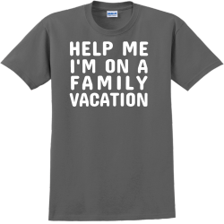 Help Me I'm On A Family Vacation T-Shirt Design - 2257