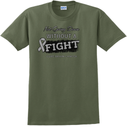 Not Going Down Without A Fight Cure Brain Cancer - Cancer Awareness T-shirt Design T-Shirt Design -