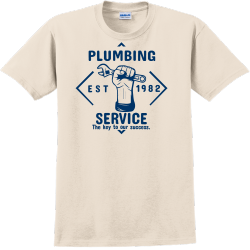 Plumbing Service The Key To Our Success - Construction T-shirt T-Shirt Design - 2243