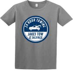 24 Hour Towing Jakes Tow & Salvage - Mechanic T-shirt Design T-Shirt Design - 195