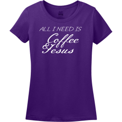 All I Need Is Coffee & Jesus - Christian T-shirt Design T-Shirt Design - 3860
