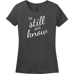 Still Know And Be - Christian T-shirt Design T-Shirt Design - 3915