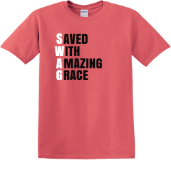Saved wiith amazing grace - Christian T-shirts
