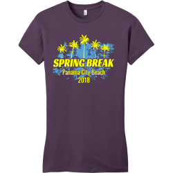 Spring Break Panama City Beach T-Shirt Design - 3645