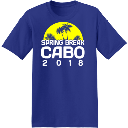 Spring Break Cabo T-Shirt Design - 3629