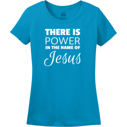 There Is Power In The Name Of Jesus - Christian T-shirt Design T-Shirt Design - 3859