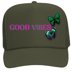 Good Vibes Butterfly Olive